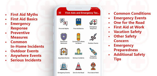 Healthcare app- First aid and emergencies